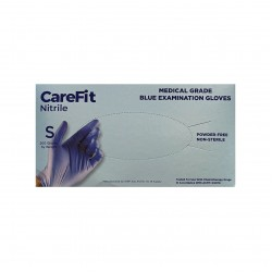 WRP CareFit Blue Medical Grade Nitrile Gloves (Small)