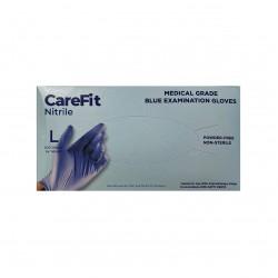 WRP CareFit Blue Medical Grade Nitrile Gloves  (Large)
