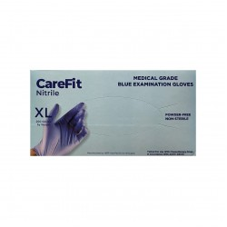 WRP CareFit Blue Medical Grade Nitrile Gloves (X-Large)