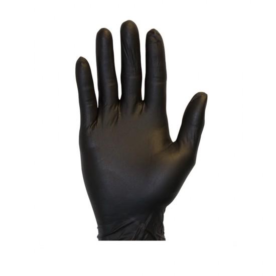 Black Powder Free Nitrile Gloves (Large)