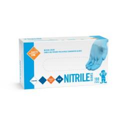 Blue Powder Free Nitrile Medical Grade Gloves (Large)