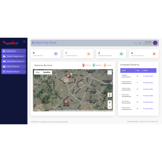 SYMVID-19 (Smart Hotspot Monitoring Software)