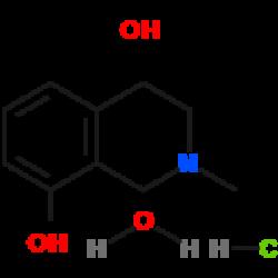 (4R)-4,8-dihydroxy-N-methyl-1,2,3,4-tetrahydroisoquinoline hydrochloride monohydrate