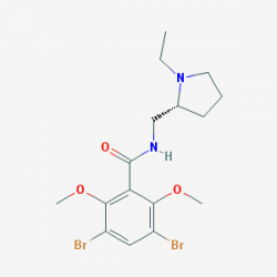 3,5-dibromo-N-[[(2R)-1-ethylpyrrolidin-2-yl]methyl]-2,6-dimethoxybenzamide